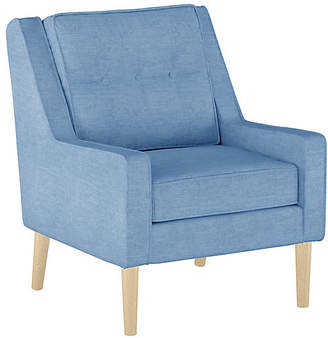 One Kings Lane Shara Accent Chair - French Blue Linen
