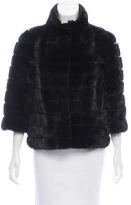 Mink Fur Three-Quarter Sleeve Jacket