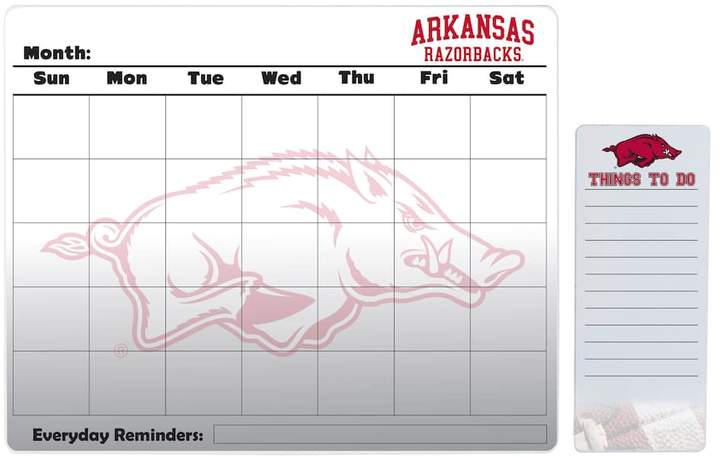 Kohl's Arkansas Razorbacks Dry Erase Calendar & To-Do List Pad Set