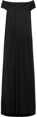 HATCH - Luella Off-the-shoulder Stretch-jersey Maxi Dress - Black $220 thestylecure.com