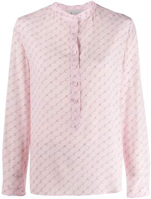 Stella McCartney logo diagonal striped shirt