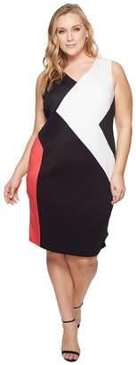 Calvin Klein Plus Plus Size 3 Color Block Dress Women's Dress