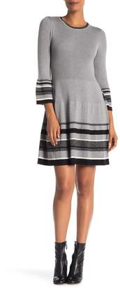Eliza J Bell Sleeve Fit & Flare Sweater Dress