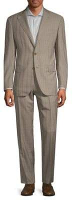 Caruso Stripe Wool Suit