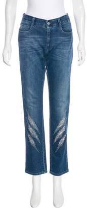 Stella McCartney Mid-Rise Embellished Jeans w/ Tags