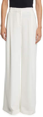 Lafayette 148 New York Quincy Finesse Crepe Wide-Leg Pants