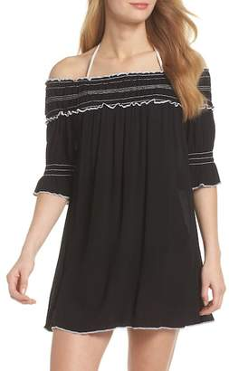 Becca Nightingale Off the Shoulder Cover-Up Dress