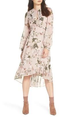EVER NEW Floral Print High/Low Hem Dress
