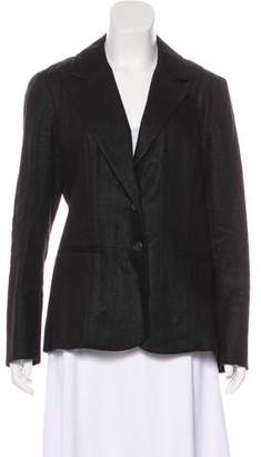 Veronica Beard Linen Notch-Lapel Blazer