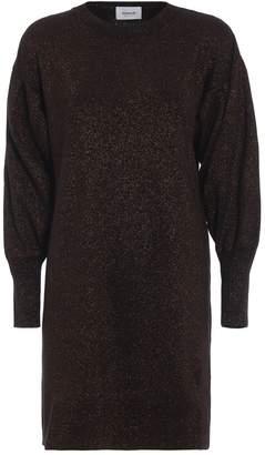 Dondup Wool Blend Lurex Knit Dress