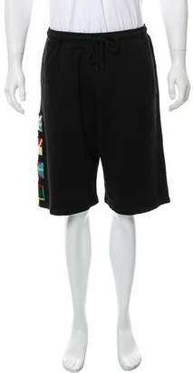 Marcelo Burlon County of Milan Flags Jogger Shorts w/ Tags