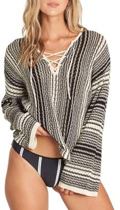 Billabong Tidal Waves Lace-Up Sweater