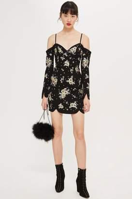 Topshop Jewel Cluster Bardot Dress
