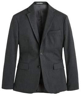 MANGO Textured slim-fit blazer