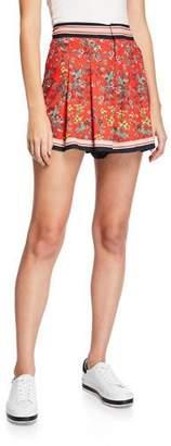 Alice + Olivia Scarlet High-Waist Flutter Shorts