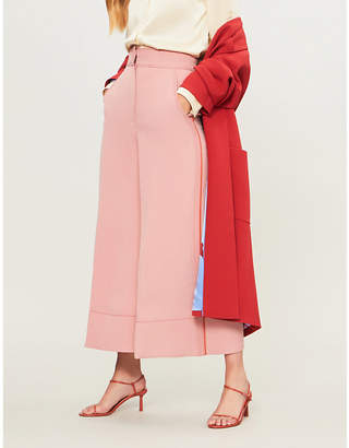 Roksanda Hasani high-rise wide-leg twill trousers