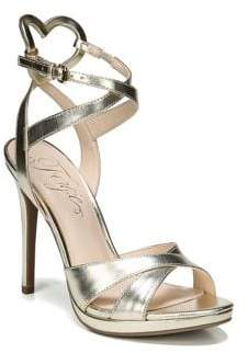 Fergie Naima Metallic Leather Ankle Strap Sandals