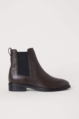 H&M Leather Chelsea Boots - Brown