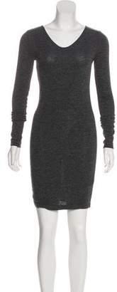 Alexander Wang Heather Grey Long Sleeve Mini Dress