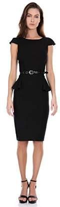 XOXO Ladies Apparel Junior's Womens Belted Peplum Sheath Dress