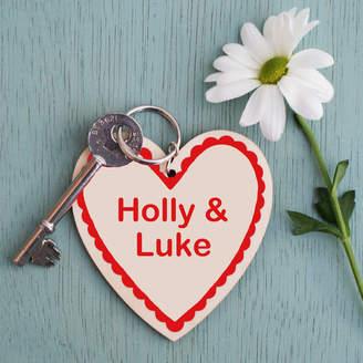 Sparks Living Personalised Love Heart Keyring