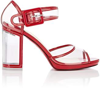 Christian Louboutin Women's Barbaclara Patent Leather & PVC Platform Sandals