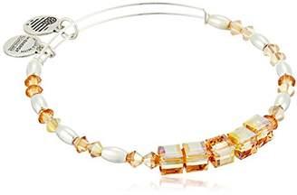 Alex and Ani Swarovski Beaded Glow Expandable Wire Silver Bangle Bracelet