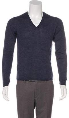 Prada Wool V-Neck Sweater