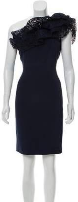Marchesa One Shoulder Mini Dress