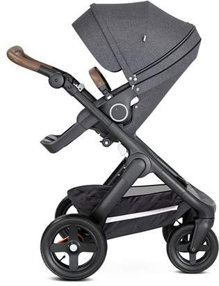 Stokke TrailzTM Black Stroller Chassis with Brown Handle