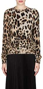 Saint Laurent Women's Leopard-Print Mohair-Blend Sweater