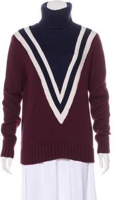 Tory Sport Wool-Blend Knit Sweater