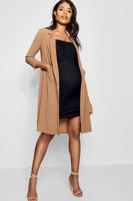 boohoo Maternity Pocket Duster Jacket