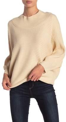 AAKAA Mock Neck Dolman Sleeve Sweater