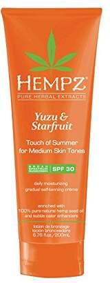 Hempz Yuzu & Starfruit Touch of Summer Moisturizing Gradual Self-Tanning Creme with SPF 30 for