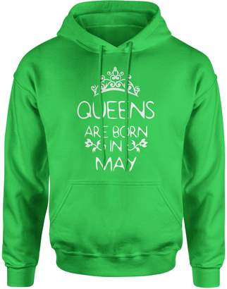 Expression Tees Hoodie Queens are Born in May Adult