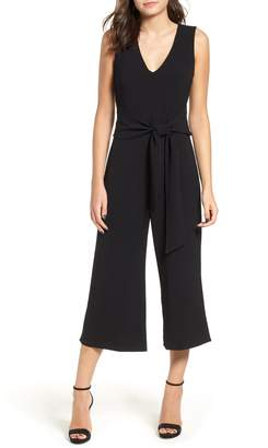 ASTR the Label Tie Waist Crop Jumpsuit