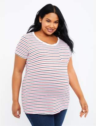 f5d09a7c5de32 Motherhood Maternity Plus Size Pocket Tee Maternity T Shirt