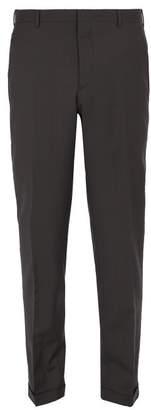 Prada Slim Leg Wool Blend Trousers - Mens - Grey