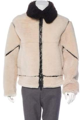 Burberry Shearling Zip-Up Jacket
