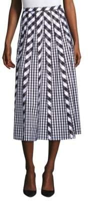 Lafayette 148 New York Adalia Check Pleated Skirt