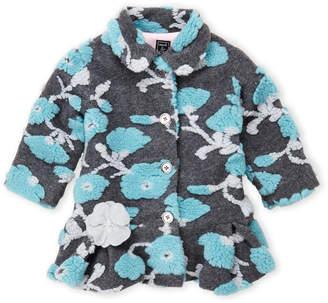 Co Mack & Toddler Girls) Flocked Floral Coat