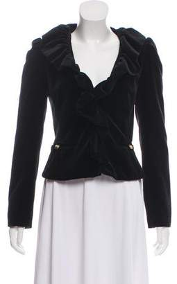 Milly Ruffle-Trimmed Jacket