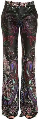 Roberto Cavalli Paisley Printed Velvet Pants