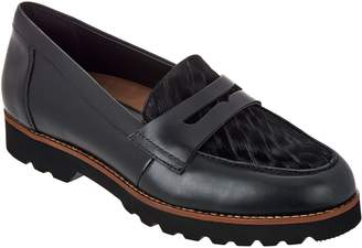 Earth Earthies Leather and Haircalf Loafers - Braga