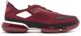Prada Cloudbust Knitted Low Top Trainers - Mens - Burgundy