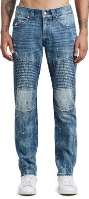 True Religion MENS MOTO SLIM JEAN W/ FLAP