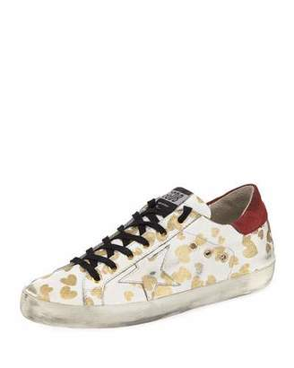 Golden Goose Superstar Hearts Lace-Up Sneakers