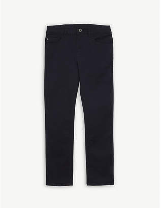 Armani Junior Cotton-blend chino trousers 4-16 years