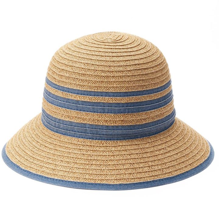 SONOMA Goods for LifeTM Chambray Striped Cloche Hat